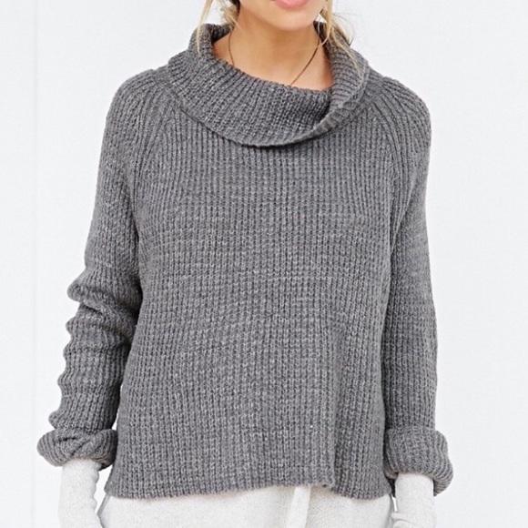 Kimchi Blue Sweaters - Kimchi Blue | Cowl neck Gray Knit Sweater